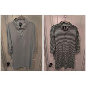 2 FootJoy Polo Golf Shirts XXL